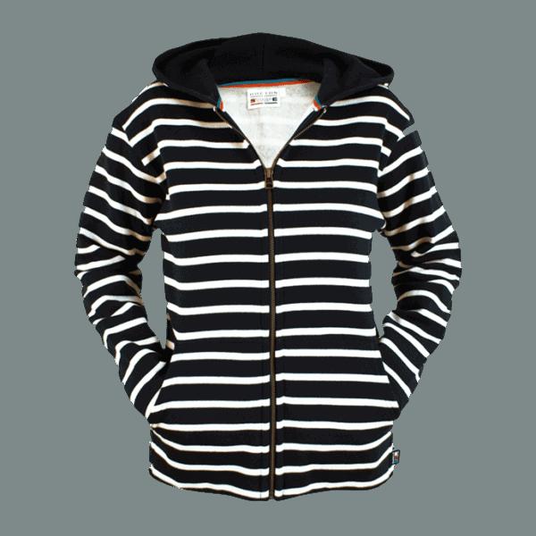 BretonStripe-hoody-zwart wit