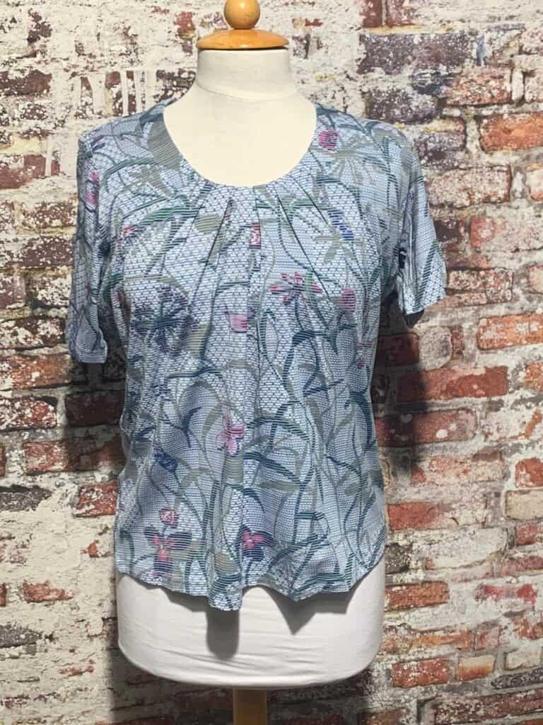 Leona per donna shirt print korte mouw 211.20.07