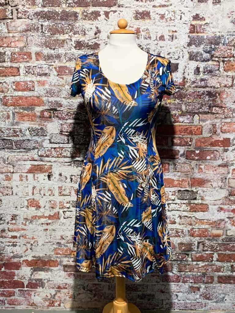 iz naiz jurk palm royal blue