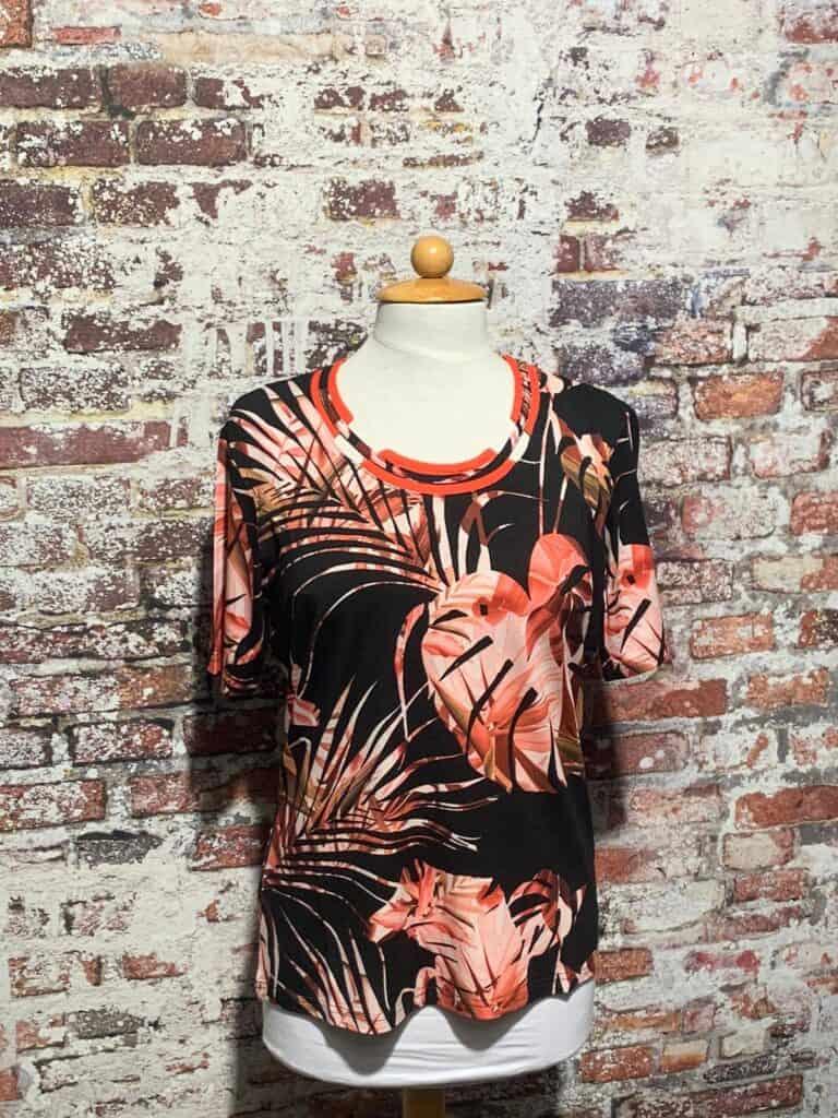 leona per donna shirt korte mouw 201.37.09