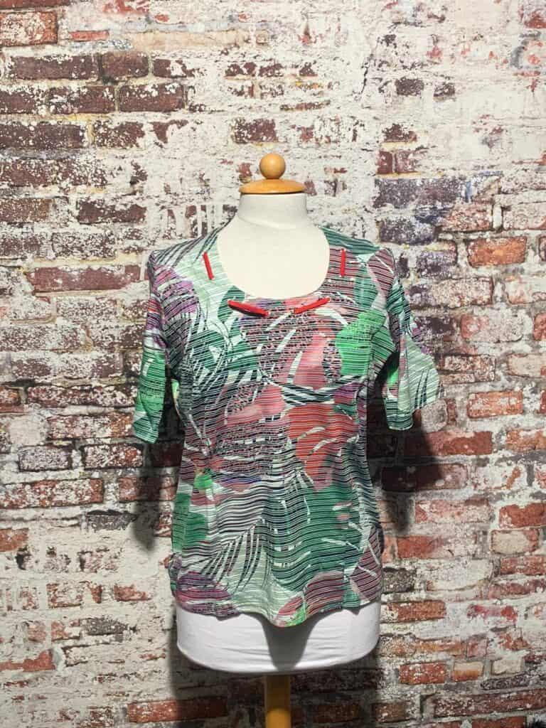 leona per donna shirt print korte mouw 201.20.17