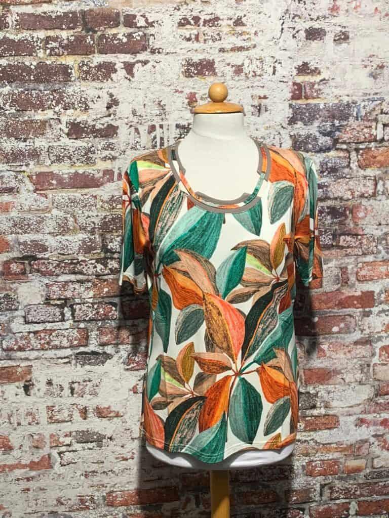 leona per donna shirt print korte mouw 211.37.03